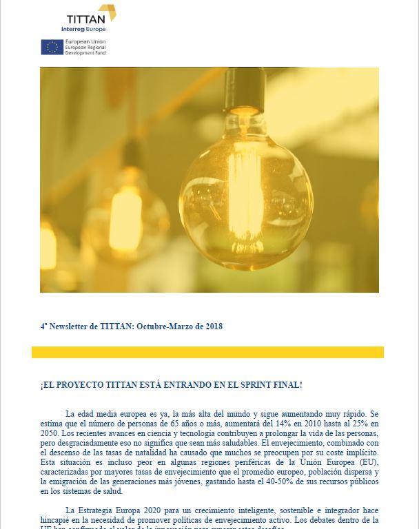 Imagen del cuarto newsletter del proyecto TITTAN - Interreg