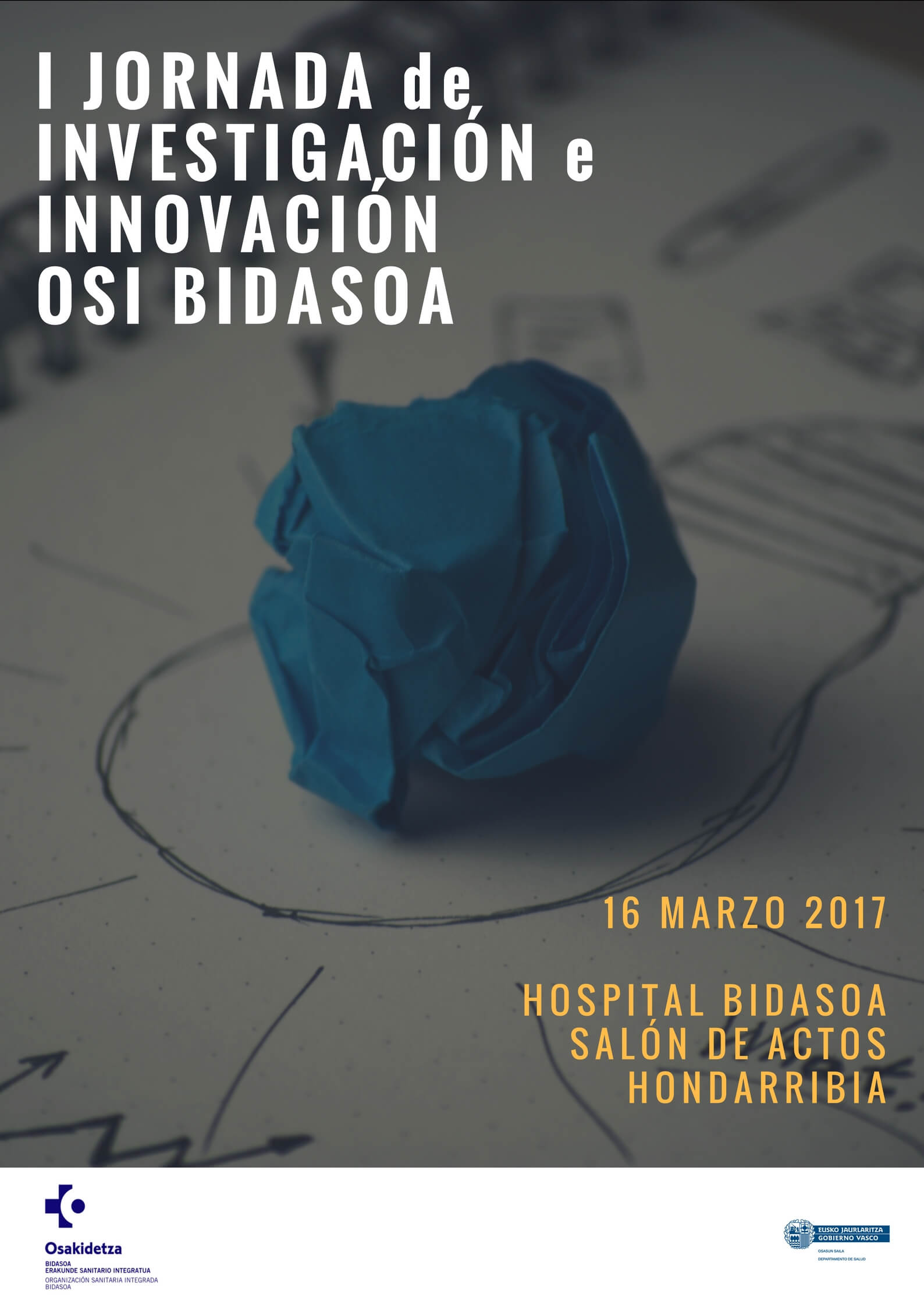 Poster of the 1st Research and Innovation Conference organised by Bidasoa IHO