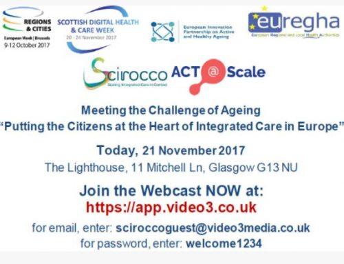 """Euskadi participa en el taller """"Cumpliendo el reto del envejecimiento- Situando a los ciudadanos en el corazón de la atención integrada en Europa"""" celebrado en Escocia."""