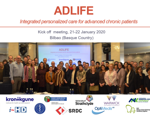 The Basque Country leads the ADLIFE European project that involves nine European countries to improve the health and quality of life of the elderly population suffering from advanced chronic diseases