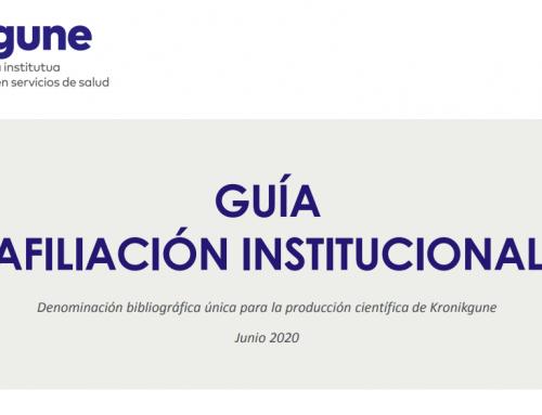 Nueva guía de afiliación Kronikgune: criterios unificados en la firma de autoría